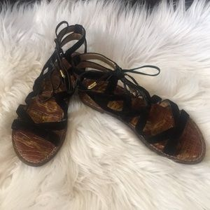 Sam Edelman Black Gladiator sandals. Size 6